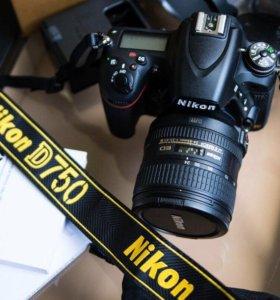 Nikon d750+объектив.Новый