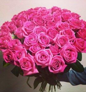 Цветы. Розовые розы