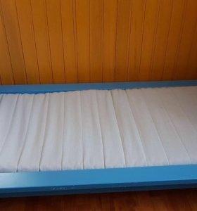Кровать Mammut Ikea детская + реечное дно + матрас