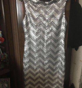 Юбка и платье блестящие р47-48