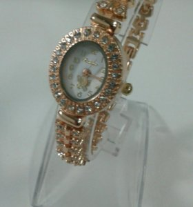 Женские часы под золото