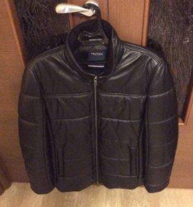 Зимняя кожаная куртка Nautica