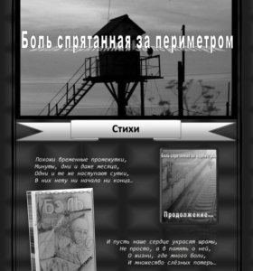"""Сборник стихов """"Боль спрятанная за периметром"""" часть 2 (стихи)"""