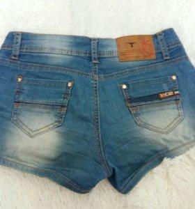 Подростковые женские короткие джинсовые шорты