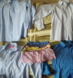 Школьные рубашки 8 шт