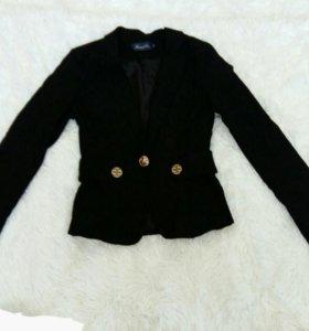 Пиджак теплый плотный школьный для девушек