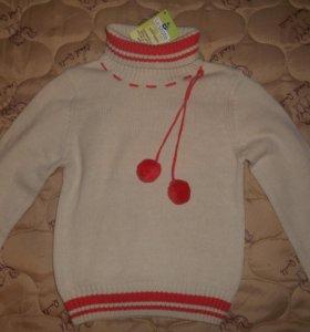 Новый свитер для девочки на 7-9 лет 134 см