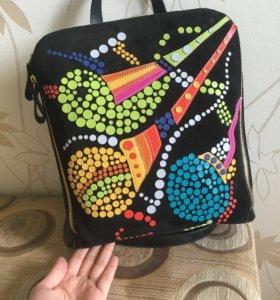 Рюкзак НОВЫЙ✅натуральная кожа\замша🎒