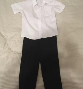 Рубашка с коротким рукавом и брюки классика