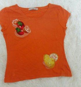 Женская подростковая футболка с аппликацией