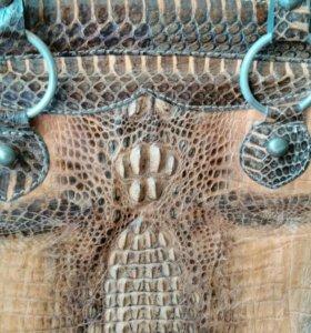 Сумка из натуральной крокодиловой кожи