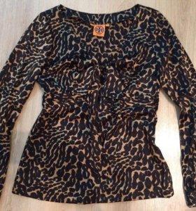 Шелковая леопардовая блуза Tory Burch оригинал