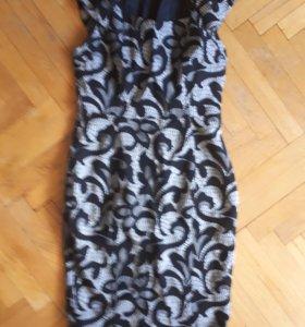 Платье женское с жаккардовой тканью