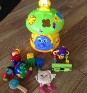 Музыкальный сортер+игрушки