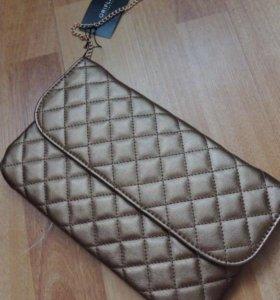 Бронзовая сумочка- клатч
