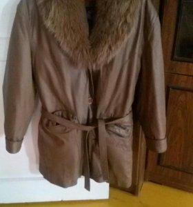 Кожаная куртка с подстежкой