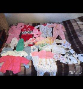 Пакет вещей на девочку 62-74