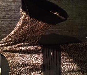 Платье вечернее леопардовой расцветки