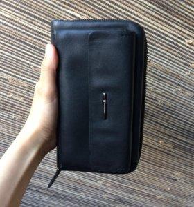 Мужской натуральный кожаный кошелёк