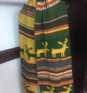 Большой тёплый шарф унисекс