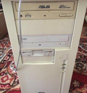 Компьютер, монитор, клавиатура