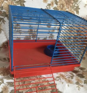 Клетка для грызуна с домиком и кормилкой