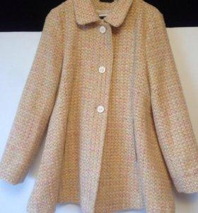 Новое шерстяное пальто М