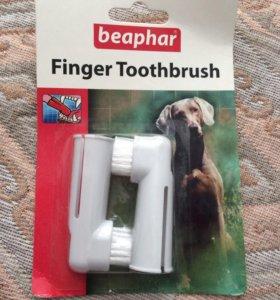 Зубная щётка на палец 2 шт