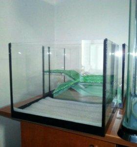 15 литровый новый террариум для черепах и другие.