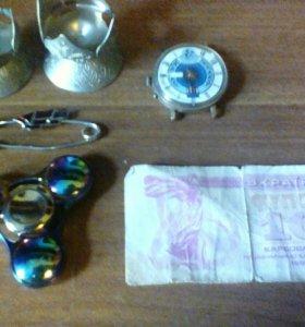Спиннер, часы, булавка раритет и т.д