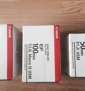 Коробка для объектива Canon 50 мм f/1,2