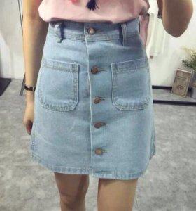 Джинсовая юбка (новая)