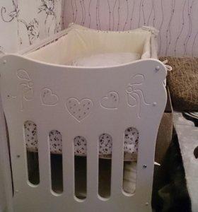 Кроватка детская островок уюта,бантики