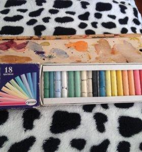 Пастель и акварельные краски
