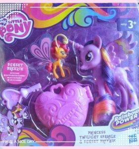 "My Little Pony ""Rainbow Power"": Princess Twilight Sparkle & Sunset Breezie"