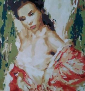 Картина рисованная красками