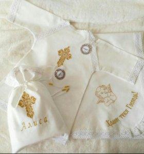Крестильная рубашка, именные крестильные комплекты