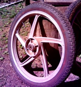 колеса для мопеда альфа-дельта