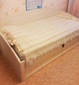 Кровать 1.5 сп с подъемным механизмом без матраса
