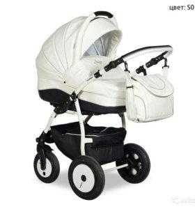 Детская коляска 3в1 индиго(эко кожа)