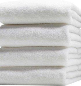 Полотенца белые махровые, новые, 20 шт