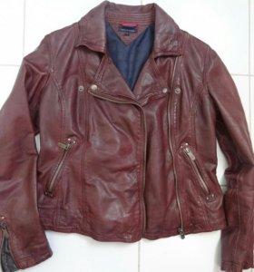 Tommy Hilfiger куртка кожанная