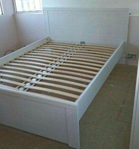 Кровать икеа Бесто с матрасом