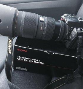 Nikon, Sigma 70-200mm F2.8, II, apo ex dg Macro HS
