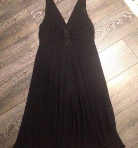 Платье MaxMara оригинал шёлк чёрное