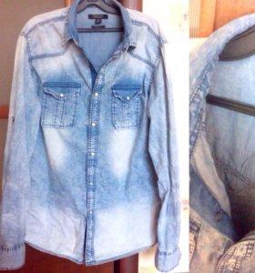 Рубашка унисекс джинсовая