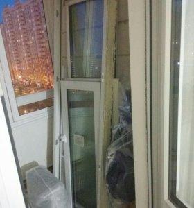 Пластиковые окна + дверь балкона