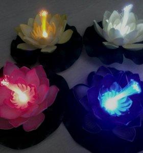 Лилия декоративная с подсветкой для пруда,королевс