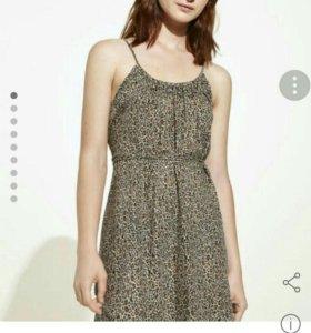 Платье леопардовое на бретелях OYSHO