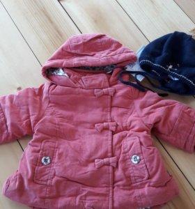 Теплая куртка на малышку